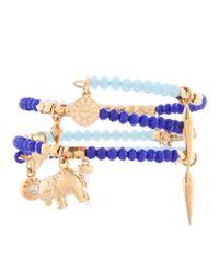 Henri Bendel | Blue St Tropez Charm Coil Bracelet | Lyst