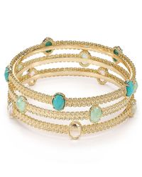 Kendra Scott | Metallic Janelle Bangles Set Of 3 | Lyst