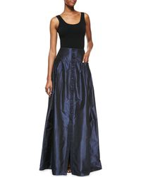 Carolina Herrera - Blue Taffeta Ball Gown Skirt - Lyst