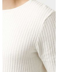 TOPMAN - Black Off White Gridstitch Crew Neck Jumper for Men - Lyst