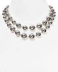 Lauren by Ralph Lauren - Metallic Beaded Delight Graduated Necklace 34 - Lyst
