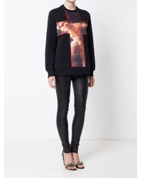 Givenchy - Black Fauno Print Cross Sweatshirt - Lyst