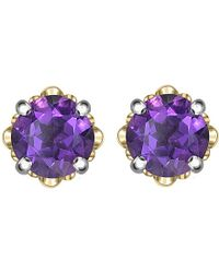 Theo Fennell | Purple 18ct White And Rose-gold Amethyst Blossom Bud Earrings | Lyst