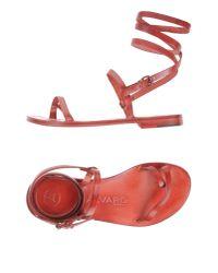 Alvaro - Red Thong Sandal - Lyst