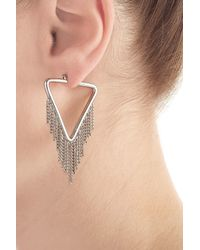 Marc By Marc Jacobs - Metallic Earrings With Chain Detail - Silver - Lyst
