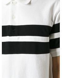 Givenchy - White Striped Polo Shirt for Men - Lyst
