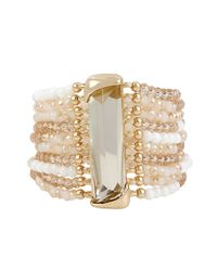 Kenneth Cole | Metallic Mixed Bead Multi Row Bracelet | Lyst