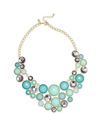 INC International Concepts - Metallic 14k Gold Plated Turquoise Multicircle Bib Necklace - Lyst