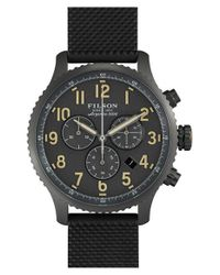 Filson | Black 'the Mackinaw Field' Chronograph Watch for Men | Lyst
