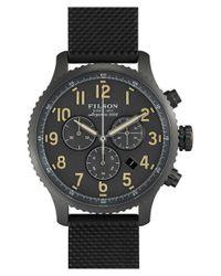 Filson - Black 'the Mackinaw Field' Chronograph Watch for Men - Lyst
