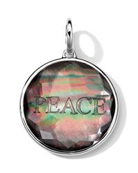 Ippolita - Black Sterling Silver Carved Intaglio Peace Charm - Lyst