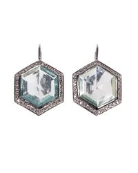 Jade Jagger - Blue Diamond Aquamarine Gold Earrings - Lyst