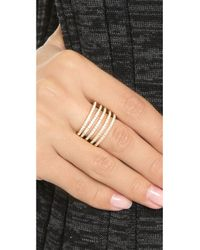 Noir Jewelry | Metallic Audley Stackable Hinge Ring - Gold/clear | Lyst