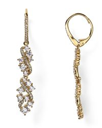 Nadri - Metallic Cluster Leverback Drop Earrings - Lyst