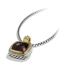 David Yurman | Metallic Albion Pendant With Diamonds, 14mm Gemstone | Lyst