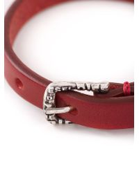 DIESEL - Red 'Amar' Bracelet for Men - Lyst