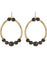 Marni | Black Horn Hoop Earrings | Lyst