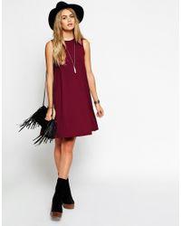 ASOS | Black Sleeveless Swing Dress | Lyst