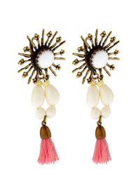Isabel Marant | Pink Mild Star Tassel Drop Earrings | Lyst