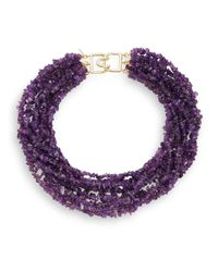 Kenneth Jay Lane | Purple Multi-strand Amethyst-color Bead Necklace | Lyst