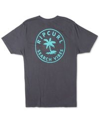 Rip Curl | Black Search Vibes Graphic-print Heritage T-shirt for Men | Lyst