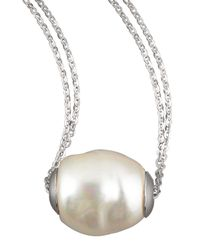 Majorica | White Baroque Pearl Pendant Necklace | Lyst