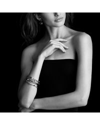 David Yurman - Color Classics Four-station Bangle With Blue Topaz In Gold - Lyst