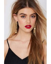 Nasty Gal - Metallic Midas Filigree Earrings - Lyst