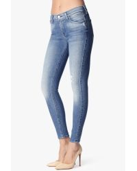 "7 For All Mankind | Blue The Ankle Skinny In Striking Light Indigo 2 (28"" Inseam) 
