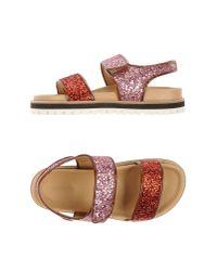 Erika Cavallini Semi Couture - Red Sandals - Lyst