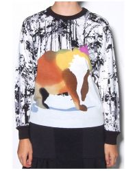 Tibi - Multicolor Forest Print Bear Sweater - Lyst