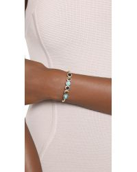 Sam Edelman | Blue Multi Stone Cuff Bracelet - Multi/gold | Lyst