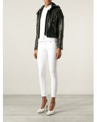 Acne Studios - Black Magna Leather Jacket - Lyst