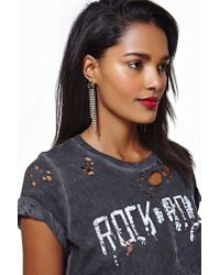 Nasty Gal | Metallic Erickson Beamon Rocks Falling For You Earrings | Lyst