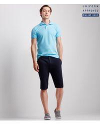 Aéropostale   Blue Solid Uniform Piqué Polo for Men   Lyst