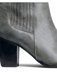 H&M - Gray Leather Boots - Lyst