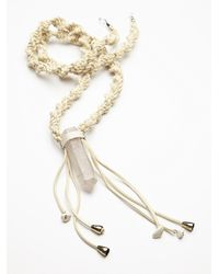 Free People | White Crystal Mountain Pendant | Lyst