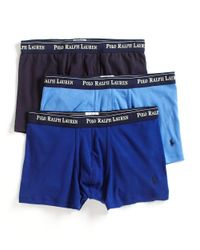 Polo Ralph Lauren | Multicolor Three Cotton Boxer Briefs for Men | Lyst