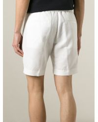 Emporio Armani - White Bermuda Shorts for Men - Lyst