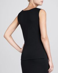 Caroline Rose - Black Flat-knit Longer Tank - Lyst