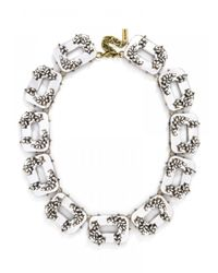 BaubleBar | White Rhian Collar-clear Mirror | Lyst