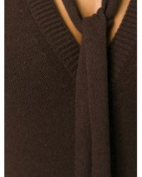 Chloé - Brown Wool and Cashmere-Blend Sweater Dress - Lyst
