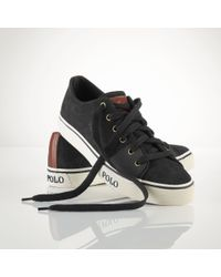 Polo Ralph Lauren | Black Cantor Suede Sneaker for Men | Lyst