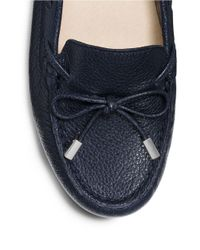 MICHAEL Michael Kors | Blue Daisy Leather Moc Loafers | Lyst