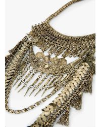 Mango - Metallic Chain Waterfall Necklace - Lyst