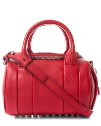 Alexander Wang | Pink 'mini Rockie - Nickel Hardware' Leather Crossbody Satchel | Lyst