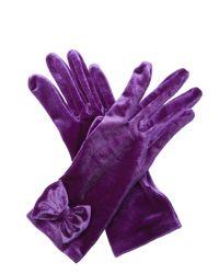 Cornelia James - Purple Charlie Velvet Gloves - Lyst