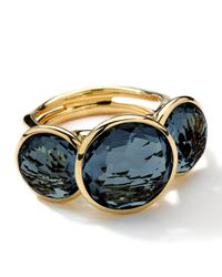 Ippolita | 18k Gold Lollipop 3stone Ring in London Blue Topaz | Lyst