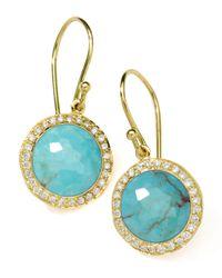 Ippolita | Blue Diamond & Turquoise Lollipop Earrings | Lyst