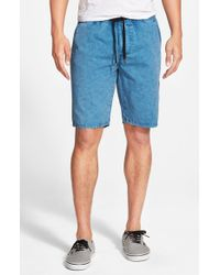 Ezekiel | Blue 'kamden' Washed Shorts for Men | Lyst